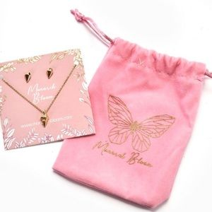 Monarch Bloom Shine Bright Necklace & Earring Set